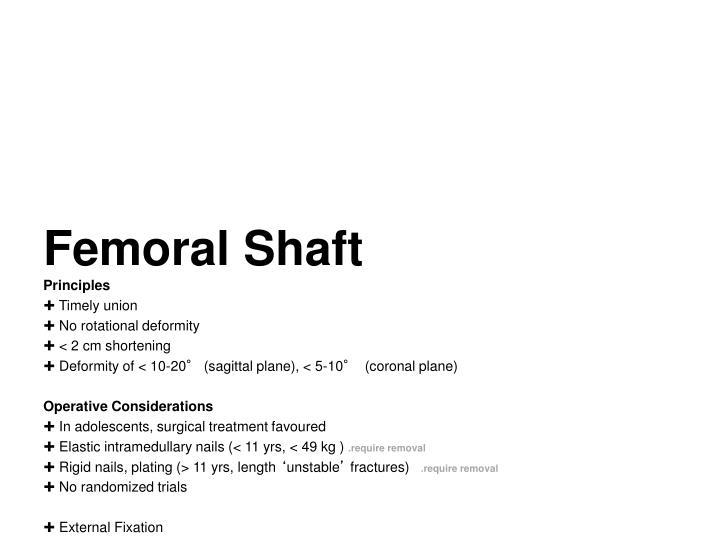 Femoral Shaft