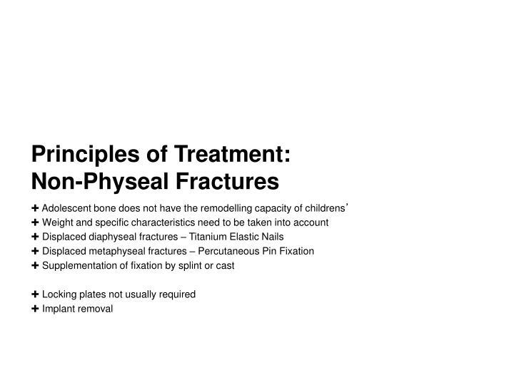 Principles of Treatment:
