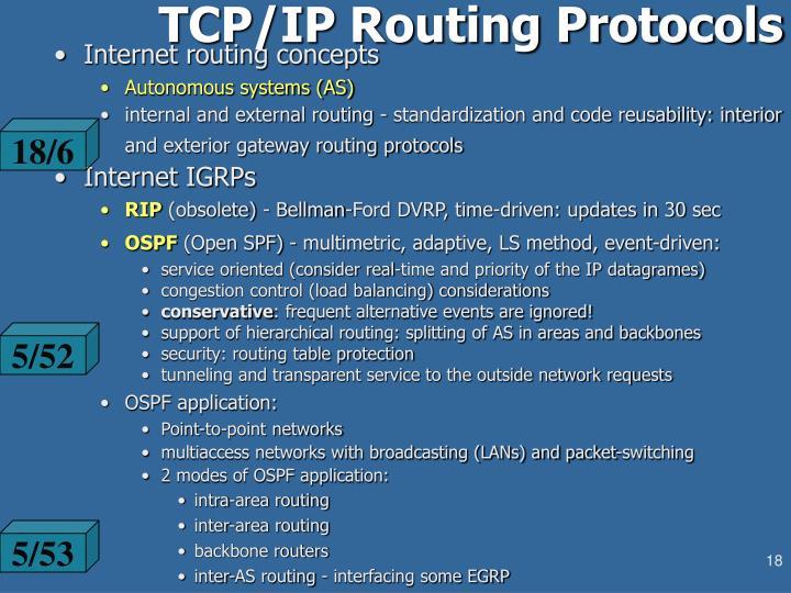 TCP/IP Routing Protocols