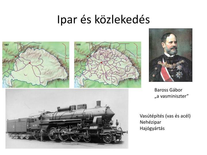 Ipar és közlekedés