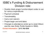 isbe s funding disbursement division role