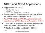 nclb and arra applications
