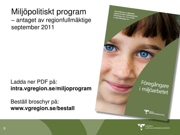 Miljöpolitiskt program