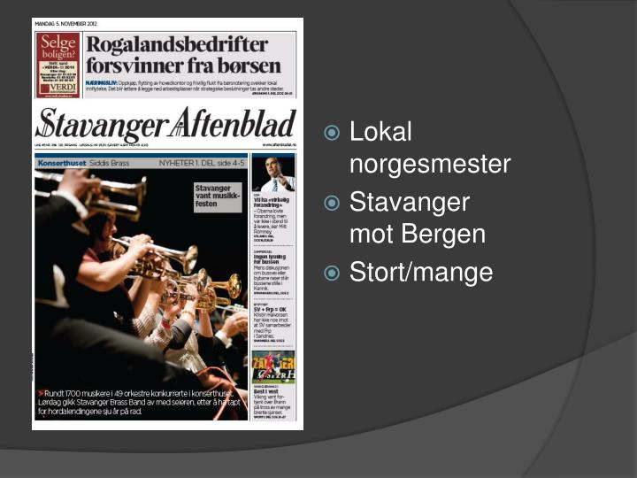 Lokal norgesmester