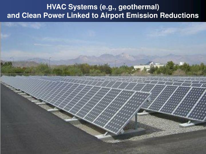 HVAC Systems (e.g., geothermal)