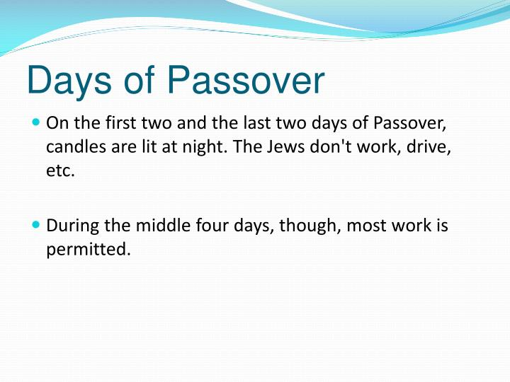 Days of Passover