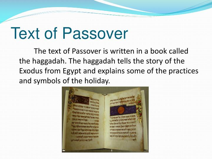 Text of Passover