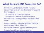what does a shine counselor do