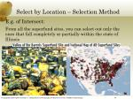 select by location selection method1