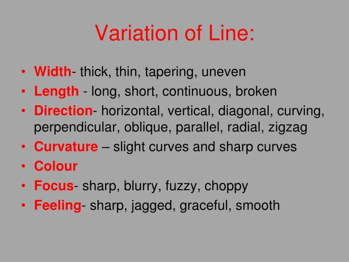 Variation of Line: