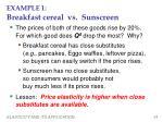 example 1 breakfast cereal vs sunscreen