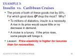 example 3 insulin vs caribbean cruises