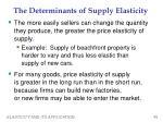 the determinants of supply elasticity