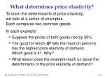 what determines price elasticity