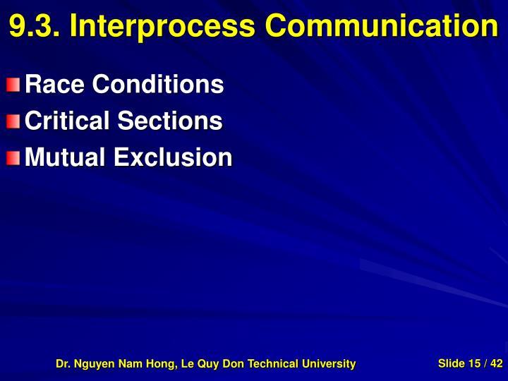 9.3. Interprocess Communication