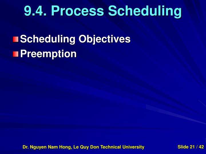 9.4. Process Scheduling