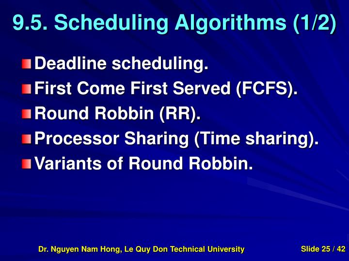 9.5. Scheduling Algorithms (1/2)