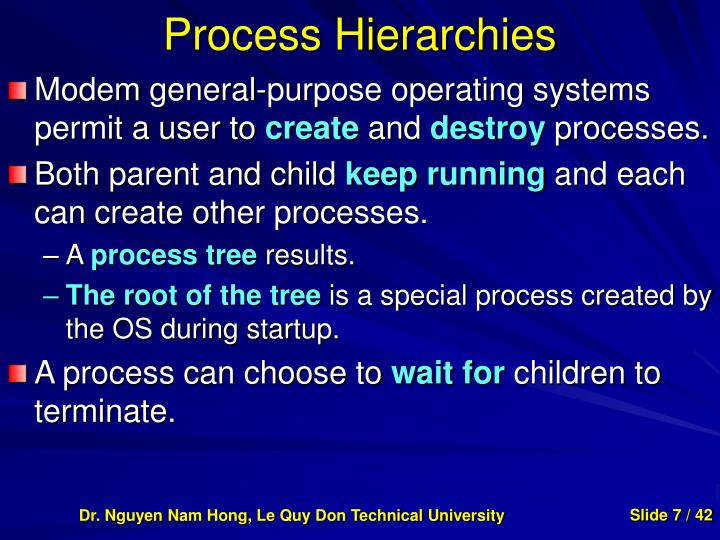 Process Hierarchies