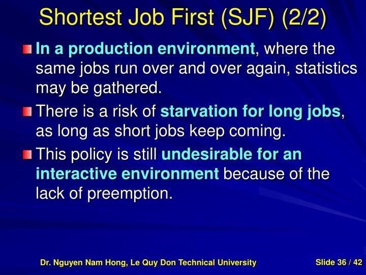 Shortest Job First (SJF) (2/2)