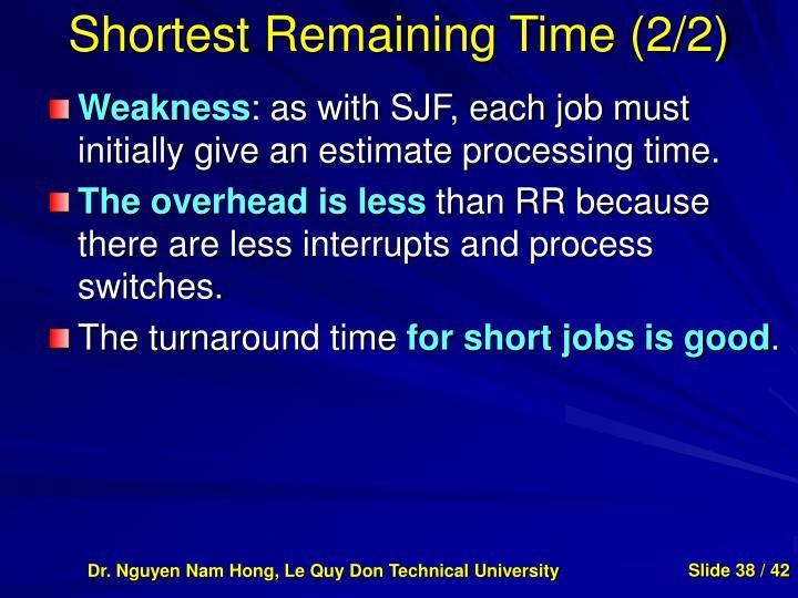Shortest Remaining Time (2/2)