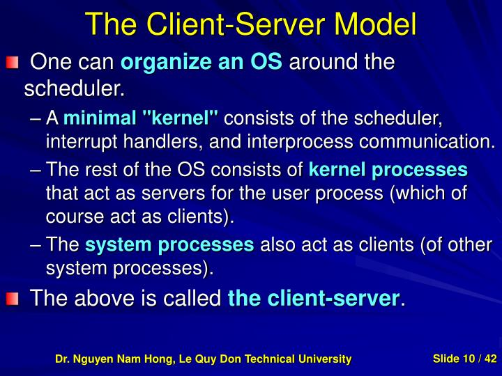 The Client-Server Model