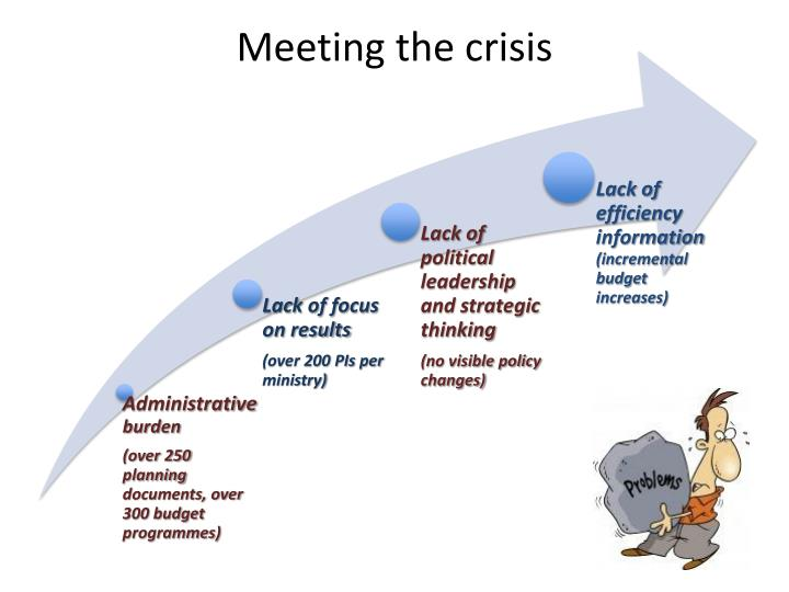 Meeting the crisis