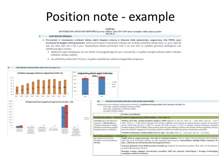 Position note - example