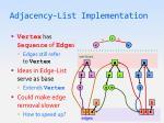 adjacency list implementation3