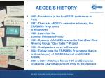 aegee s history