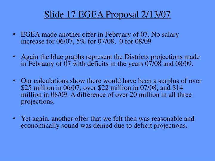 Slide 17 EGEA Proposal 2/13/07