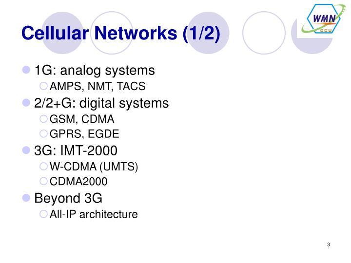 Cellular networks 1 2