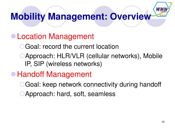 Mobility Management: Overview