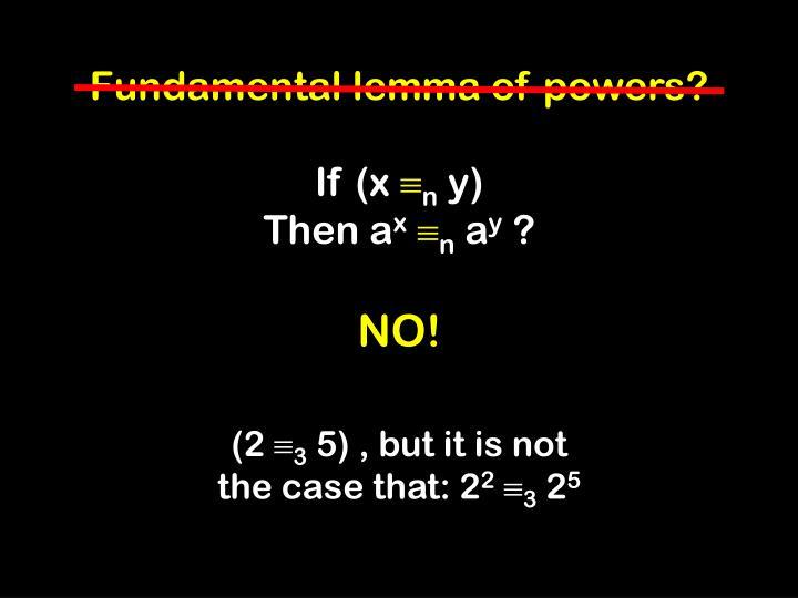 Fundamental lemma of powers?