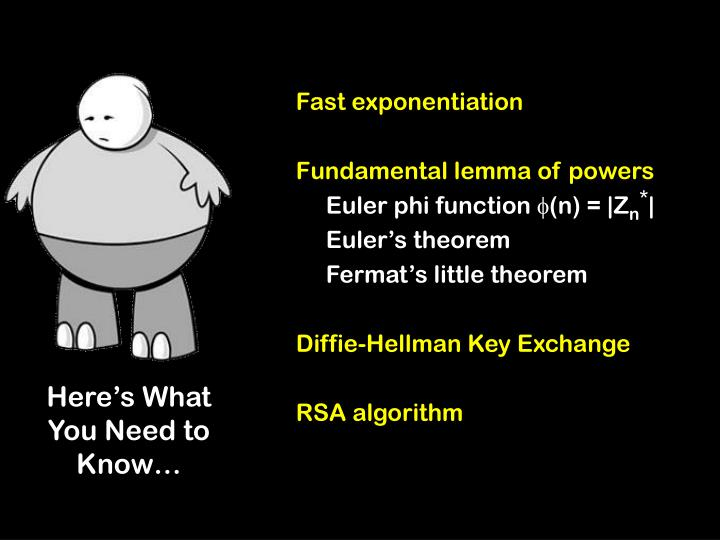 Fast exponentiation