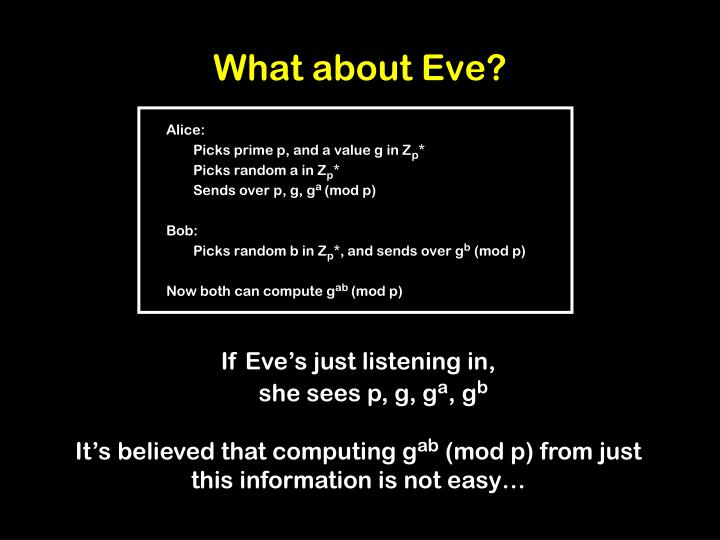What about Eve?