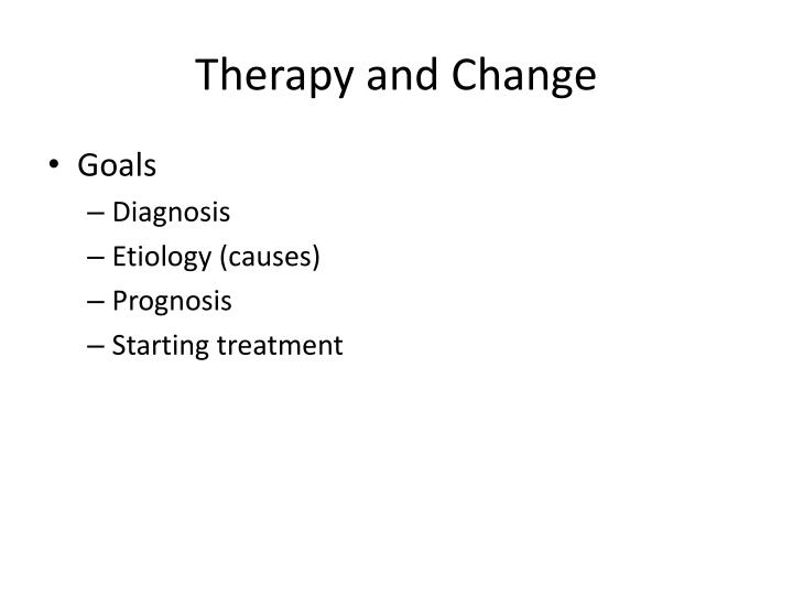 therapy and change n.