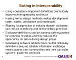 baking in interoperability