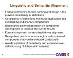 linguistic and semantic alignment