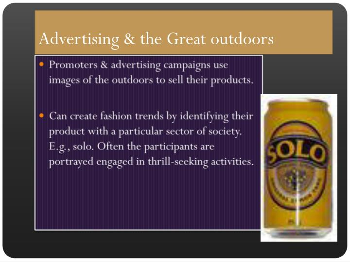 Advertising & the Great outdoors
