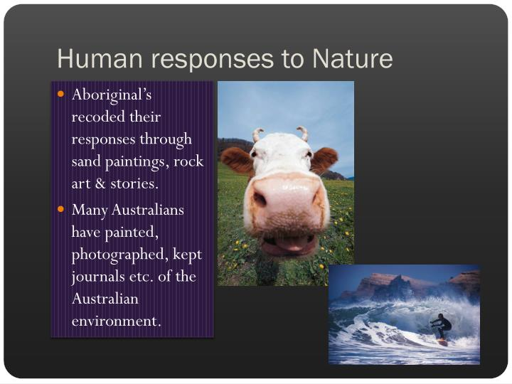 Human responses to Nature