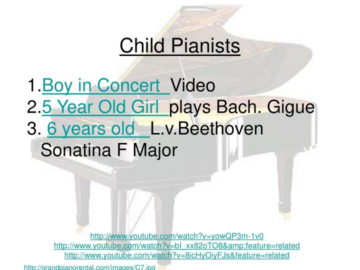 Child Pianists