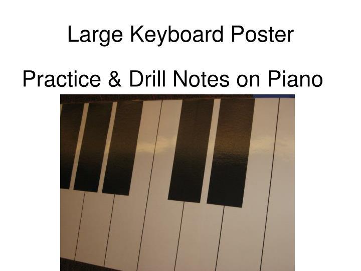 Large Keyboard Poster