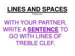 lines and spaces treble clef1