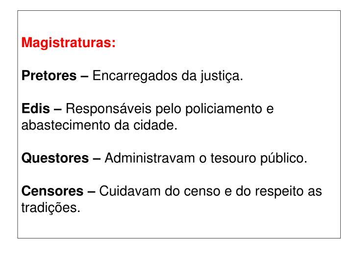 Magistraturas: