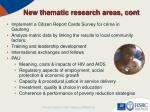 new thematic research areas cont