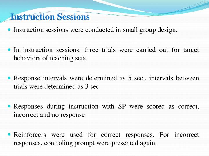 Instruction Sessions