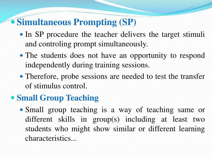 Simultaneous Prompting (SP)