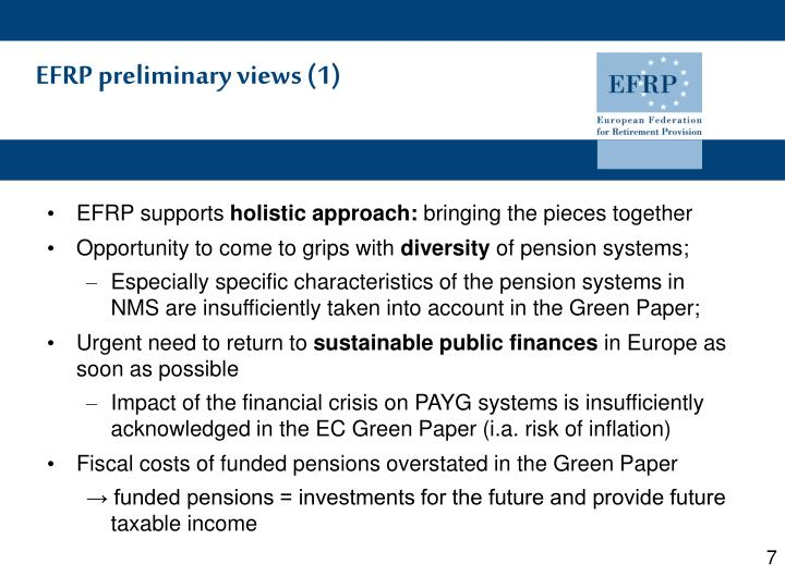 EFRP preliminary views (1)