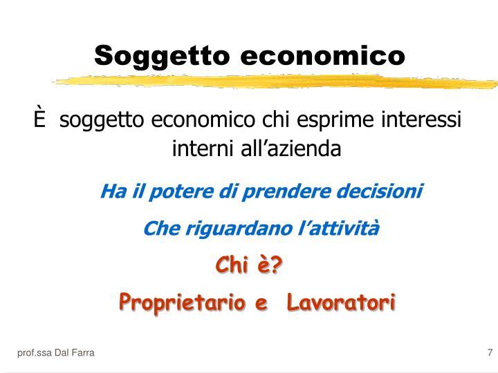 Soggetto economico