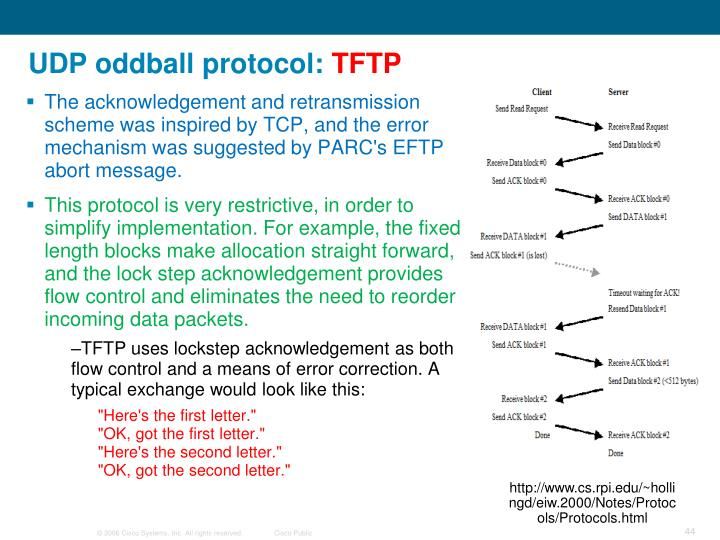UDP oddball protocol: